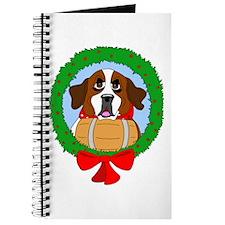 Saint Bernard Dog Christmas Journal