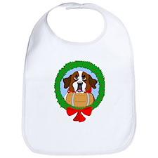 Saint Bernard Dog Christmas Bib