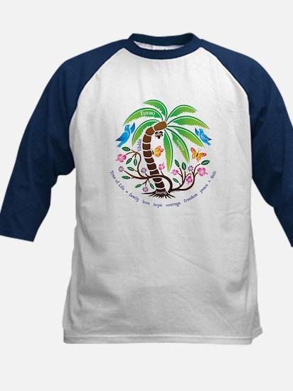 Kids Baseball Jersey/Tropical Tree of Life