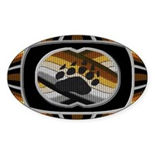 BEAR PAW PRIDE DESIGN 4 Oval Decal