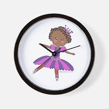Ethnic Ballerina Purple Wall Clock