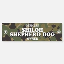 SHILOH SHEPHERD DOG Bumper Car Car Sticker