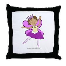 Butterfly Ballerina Throw Pillow