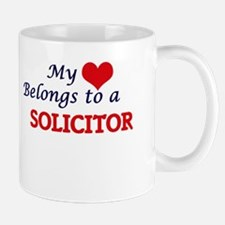My heart belongs to a Solicitor Mugs