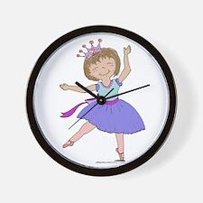 Blue Ballerina Wall Clock