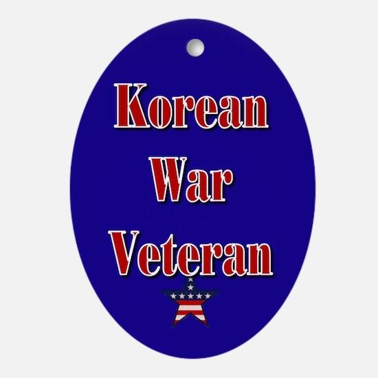 Korean War Veteran Oval Ornament