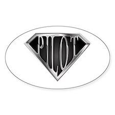 SuperPilot(metal) Oval Stickers