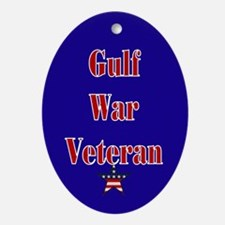 Gulf War Veteran Oval Ornament