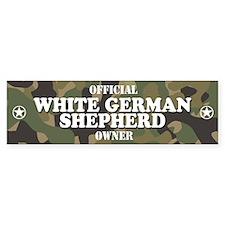 WHITE GERMAN SHEPHERD Bumper Bumper Sticker