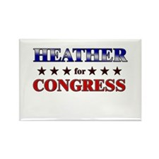 HEATHER for congress Rectangle Magnet (10 pack)