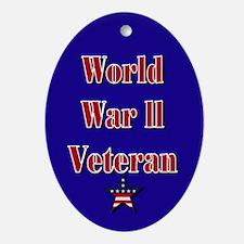 World War II Veteran Oval Ornament