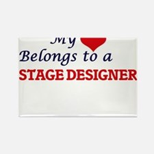 My heart belongs to a Stage Designer Magnets