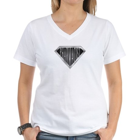 SuperPharmacist(metal) Women's V-Neck T-Shirt