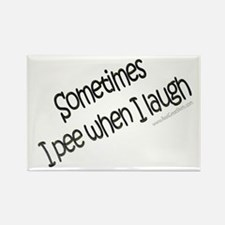 I Pee When I Laugh Gifts Rectangle Magnet