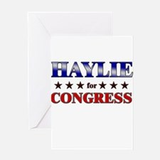 HAYLIE for congress Greeting Card