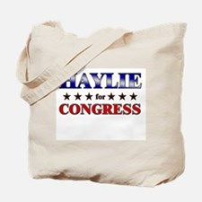 HAYLIE for congress Tote Bag