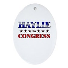 HAYLIE for congress Oval Ornament