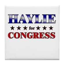 HAYLIE for congress Tile Coaster