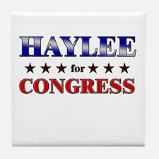 HAYLEE for congress Tile Coaster