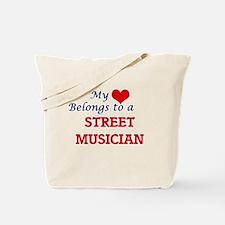 My heart belongs to a Street Musician Tote Bag