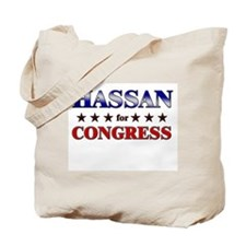HASSAN for congress Tote Bag