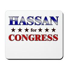 HASSAN for congress Mousepad