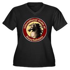 Houyhnhnms Women's Plus Size V-Neck Dark T-Shirt