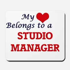 My heart belongs to a Studio Manager Mousepad