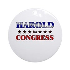 HAROLD for congress Ornament (Round)
