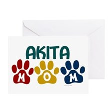 Akita Mom 1 Greeting Card