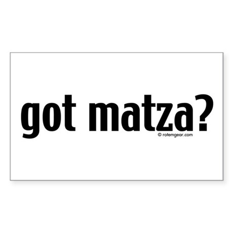 Got Matza? Passover Sticker (Rectangle)
