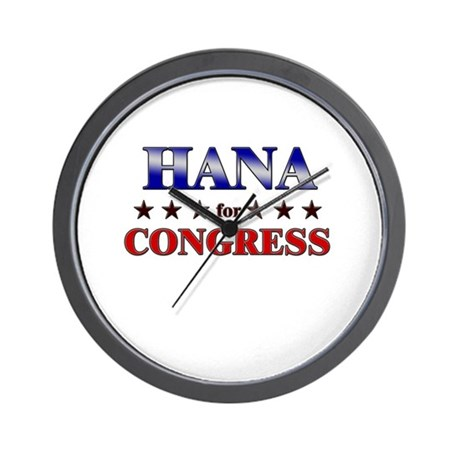 HANA for congress Wall Clock