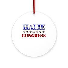 HALIE for congress Ornament (Round)