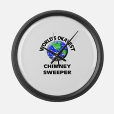 World's Okayest Chimney Sweeper Large Wall Clock