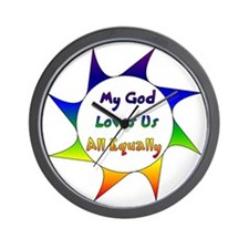 My God Loves Us All Equally Wall Clock