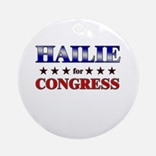 HAILIE for congress Ornament (Round)