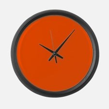 Neon Orange Solid Color Large Wall Clock
