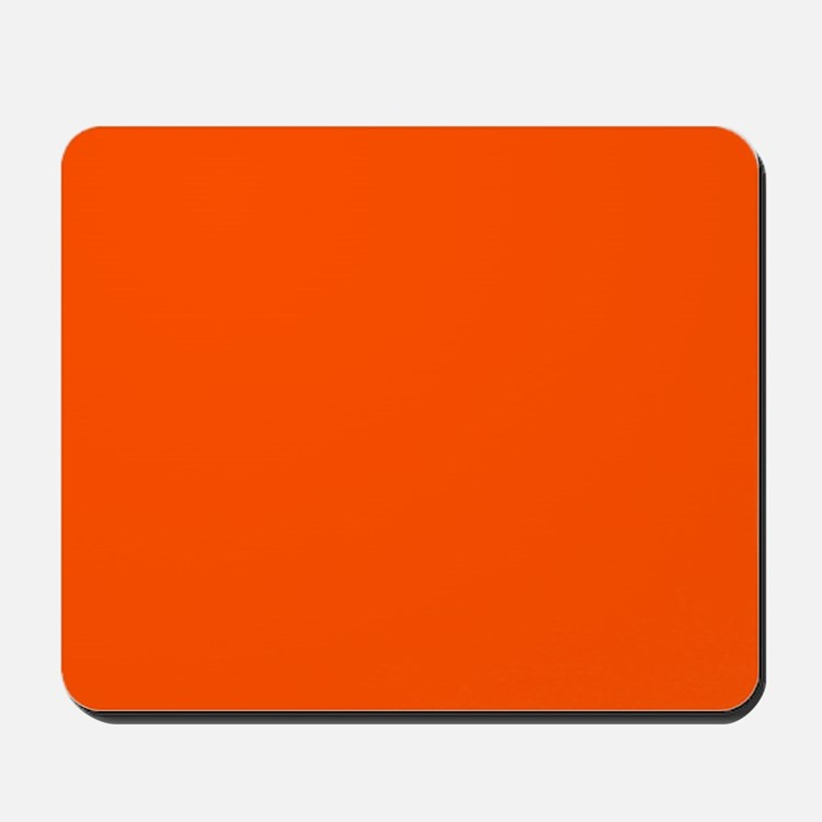Neon Orange Solid Color Mousepad