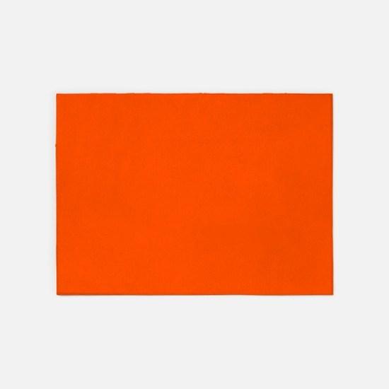 Neon Orange Solid Color 5'x7'Area Rug