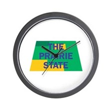 Illinois The Prairie State Wall Clock