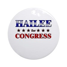 HAILEE for congress Ornament (Round)