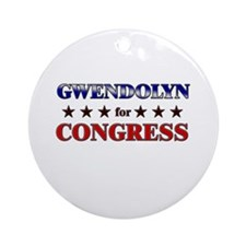 GWENDOLYN for congress Ornament (Round)