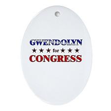GWENDOLYN for congress Oval Ornament