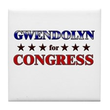 GWENDOLYN for congress Tile Coaster