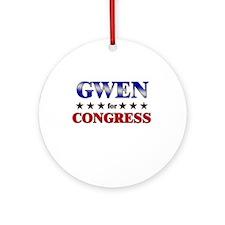 GWEN for congress Ornament (Round)