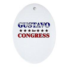 GUSTAVO for congress Oval Ornament