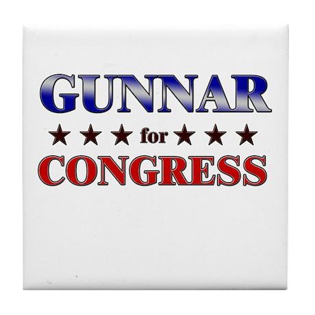 GUNNAR for congress Tile Coaster