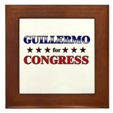 GUILLERMO for congress Framed Tile