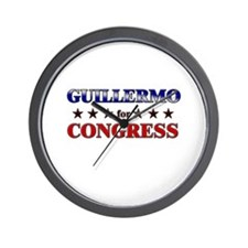 GUILLERMO for congress Wall Clock
