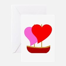 Sail Boat Love Greeting Card